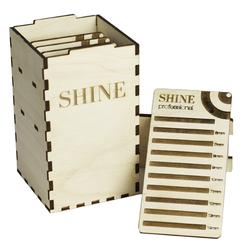 SHINE BOX деревянный на 5 планшетов (Размер S)