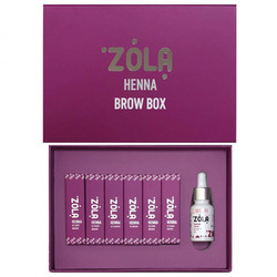 Набор хны мини для бровей Henna Brow Box ZOLA (по 5 гр)