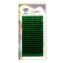 Ресницы Lovely зелёные (green) - 20 линий - MIX
