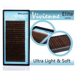 "Vivienne Elite ресницы ""горький шоколад"" изгиб C, D"