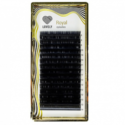 "Ресницы черные Lovely серия ""Royal Lashes"" изгиб C, CC, D (МИКС)16 линий"