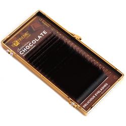 Ресницы коричневые Chocolate Truffle Extreme Look MIX изгиб L (18 линий)