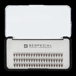 Накладные ресницы в пучках BESPECIAL (одна длина) 3 линии
