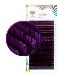 Омбре ресницы LOVELY (фиолетовые) МИКС