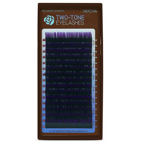 Ресницы двухцветные NEICHA Black-Violet MIX (16 линий)