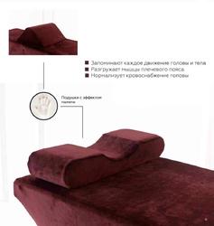 Подушка одноуровневая с эффектом памяти MEMORY FOAM ERGONOMIC Premium