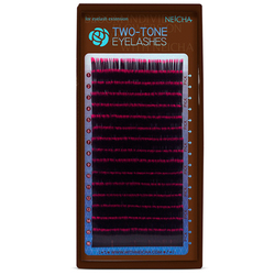 Ресницы двухцветные NEICHA Black-Red MIX (16 линий)