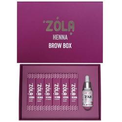Набор хны для бровей Henna Brow Box ZOLA (по 10 гр)