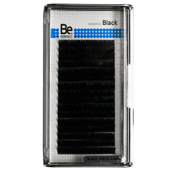Чёрные ресницы Be Perfect Black MIX 16 линий
