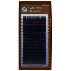 Ресницы двухцветные NEICHA Black-Blue MIX (16 линий)