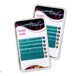 Ресницы цветные Beauty Eyes Navy 6 лент микс 8-13