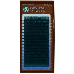 Ресницы двухцветные NEICHA Black-Green MIX (16 линий)